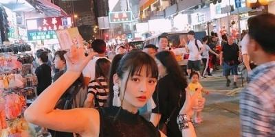 声优上坂堇香港拍摄MV 逛夜市吃美食很逍遥